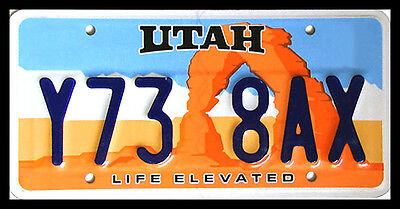 Utah LIFE ELEVATED ARCH License Plate