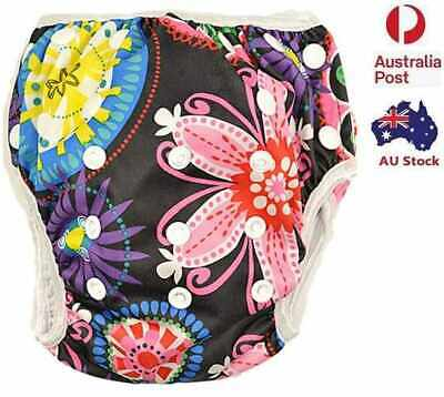 Reusable Swim Nappy Baby Girl Diaper Pant Nappies Swimmers Toddlers Child (S46)