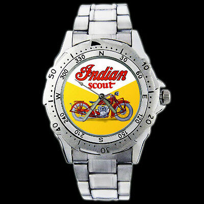 Indian Scout Chief Motor Bike New Stainless Steel Wrist Watch 13