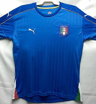 Italy Soccer Jersey Blue White Euro 2016 Adult Top New