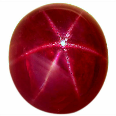 10.89 Ct GRS Certified Natural Star Ruby Gemstone Red Color Oval Cabochon Cut