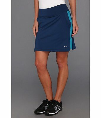 Nike Golf Women's Novelty Knit Skort, Navy/Teal  Size Small