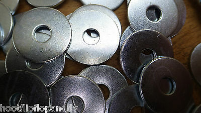 "50 x 3/4"" x 1/4"" BZP PENNY MUDGUARD REPAIR METAL WASHERS 20mm x 6mm"
