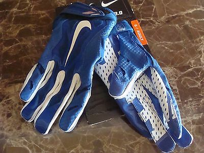 half off ce08f 41c23 Men s Nike Vapor Jet 3.0 Football Gloves GF0485 441 Blue  White Size S~2XL