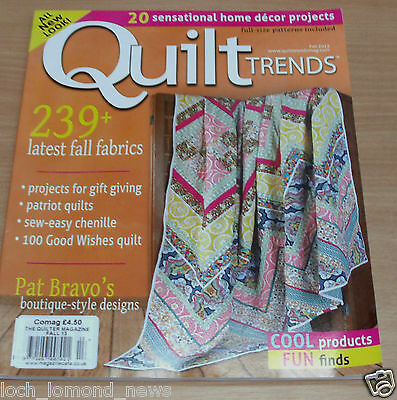 Quilt Trends magazine FALL 2013 Home Decor, Boutique-Style, Patriotic, Chenille
