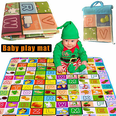 2 SIDE KIDS PLAYMAT CRAWLING EDUCATIONAL GAME PLAY MAT SOFT FOAM 200 x 180cm