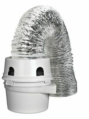 Dundas Jafine TDIDVKZW ProFlex Indoor Dryer Vent Kit with 4-Inch by 5-Foot Duct