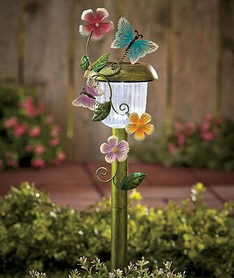 Butterflies Solar Powered Lighted Lawn Yard Garden Stake Outdoor Decoration New