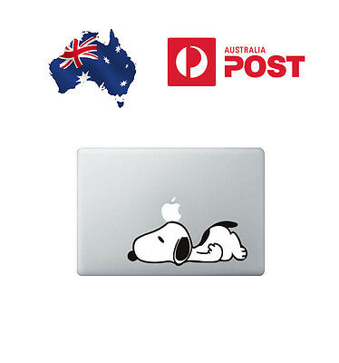 """3x Snoopy Laying Apple MacBook Air/Pro 13"""" 15"""" 17"""" Sticker Decal Vinyl STOCK NOW"""