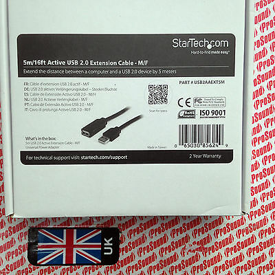StarTech.com 5 meter 16ft USB 2.0 Active Extension Cable - M/F