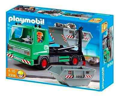 playmobil 3318 containerdienst auto lkw neu ovp entsorgung m ll eur 36 95 picclick de. Black Bedroom Furniture Sets. Home Design Ideas