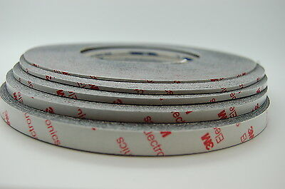 Brandnew 3M 9448HKB Strong Double Sided Tape, 1mm~10mm x50M, Fits iPhone Samsung