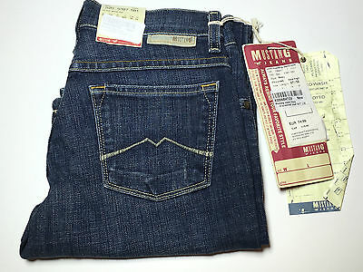 W32 // Heavy Used Wash to W27 Mustang Sissy Straight Damen Jeans