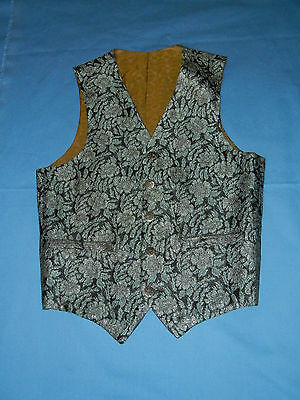 "Vintage Deadstock Brocaded Western ""Poker"" Vest ~ M, Steampunk"