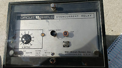 Brown Boveri (ABB) Circuit Shield Overcurrent Relay, ITE 50H, Category 268S0775