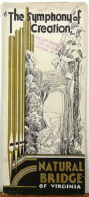 1920's - 30's Art Deco Natural Bridge of Virginia Symphony of Creation brochure