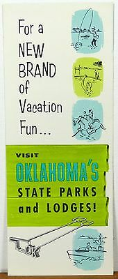 1950's early 60's Oklahoma State Parks brochure & map