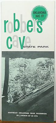1950's early 60's Robbers Cave State Park Wilburton Oklahoma brochure