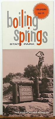 1950's early 60's Boiling Springs State Park Woodward Oklahoma brochure