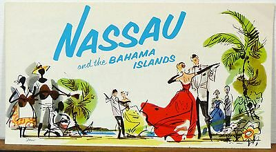 1955 Nassau Bahama Islands vintage travel brochure with great graphics