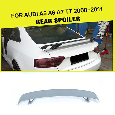 Unpainted Trunk Boot Spoiler Tail Foot Wing Lip Fit For Audi A5 A6 A7 TT 8J