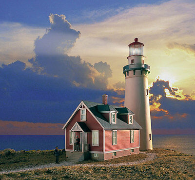 3663 Walthers Cornerstone Rocky Point Lighthouse with Flashng LED HO Scale Kit