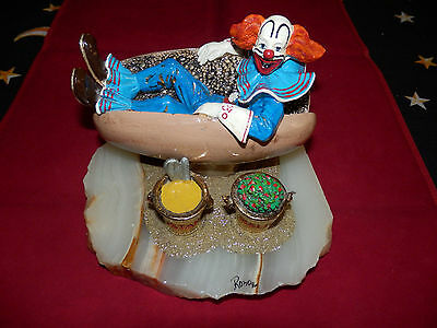 "Very Rare!!!!!!!!!!!!!! Ron Lee Signed Sculpture ""a Bozo Lunch"""