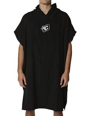 Hooded Beach Poncho Towel In Black - Creatures Of Leisure Surfing Poncho Surf
