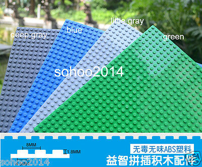 X4 Colors for Lego Compatible 10'' x 10'' Brick Base plate board 32X32 dots