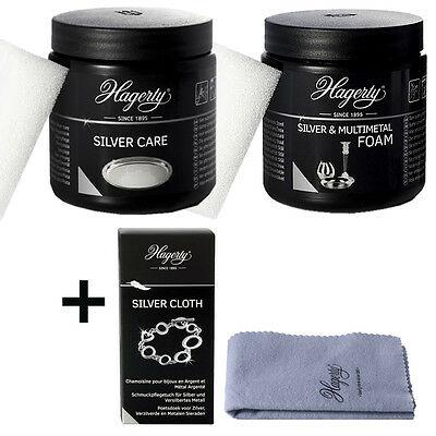 Hagerty Silver Polish Set1 Silver Foam + Care +Silver Cloth günstiger Paketpreis