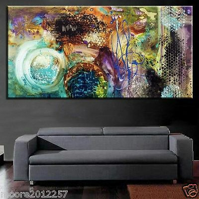 modern Huge abstract hand-painted Oil Painting wall art canvas (NO framed)