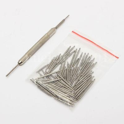 108Pcs 8-25mm Stainless Steel Watch Band Strap Spring Bar Link Pins Remover New