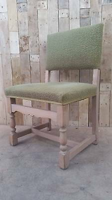Retro Vintage Large Solid Turned Wooden Art Deco Bedroom Chair- Upcycle?