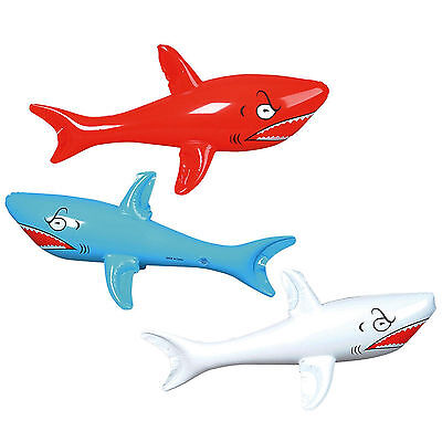 Inflatable Blow Up Toy Shark Pool Party Novelty Decoration New