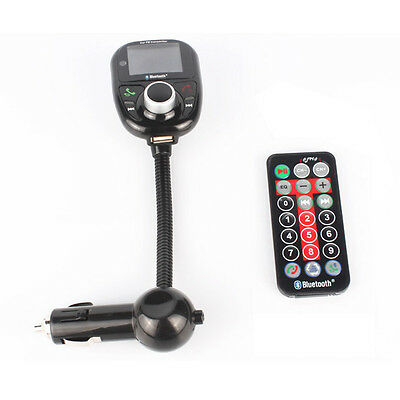 Car Kit Handsfree Bluetooth FM MP3 Player Transmitter LCD USB Charger For Mobile