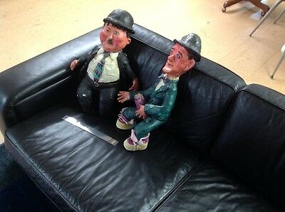 """Laurel and Hardy Figurines, 22"""" tall"""