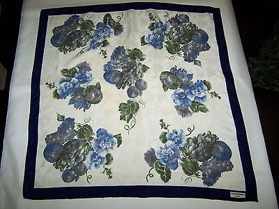 "Foulard ""furstenberg Couture"" Vtg 90 100% Silk Scarf Made In Italy"