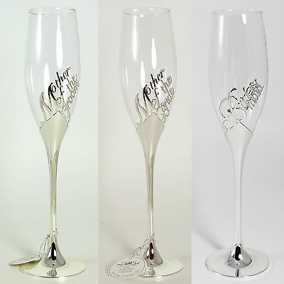 """Wedding"" Champagne Flute - Mother of Bride / Groom or Bridesmaid"