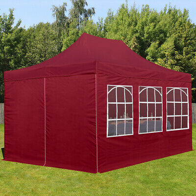 pavillon 5x5m 3 5 m hoch gazebo party gartenzelt blau ein dach grau gratis eur 219 90. Black Bedroom Furniture Sets. Home Design Ideas