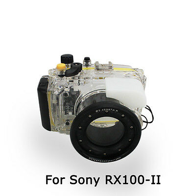 UK Store! CameraPlus® 40M Underwater Diving Housing case for Sony RX100 II