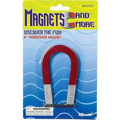 4 Inch Metal Horseshoe Magnet Experiment With Magnetism