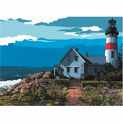 Royal & Langnickel The Lighthouse Painting By Number Artist Canvas Series
