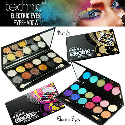 Technic Electric Eyes 12 Colour EyeShadow Palette Metallic - Bright Colours