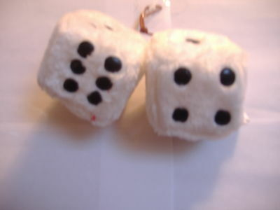 """TIE-DYE PLUSH FUZZY DICE   3/"""" INCHES HANG ON  YOUR CAR MIRROR"""