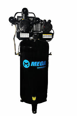 5 HP 60 Gallon Single Stage Air Compressor 18.2 CFM FREE SHIPPING 1 phase