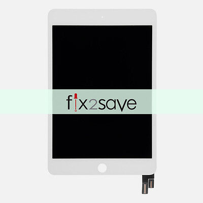 White LCD Display Touch Screen Digitizer Assembly For iPad mini 4 A1538 A1550
