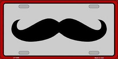 Mustache Metal Novelty License Plate Car Front Tag
