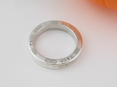 Tiffany & Co Silver 1837 Ring Size 10