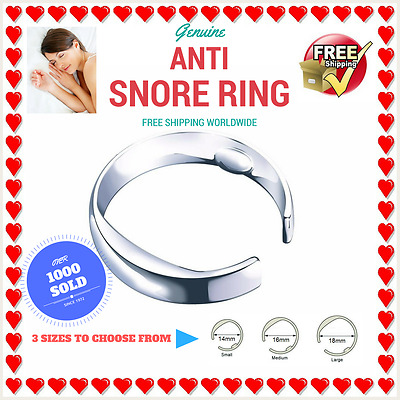 ANTI SNORE RING - Stop Snoring - 3 SIZES Acupressure Sleep Aid Clip strap