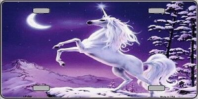 Unicorn Novelty Metal Front License Plate
